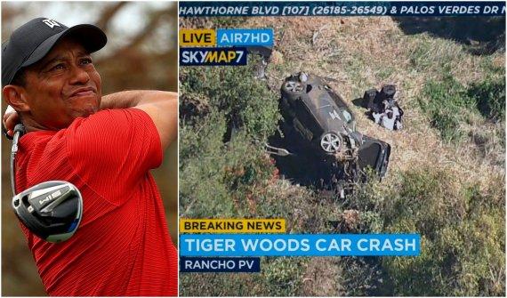 """""""Scanpix"""" nuotr./Tigeris Woodsas pateko į avariją."""