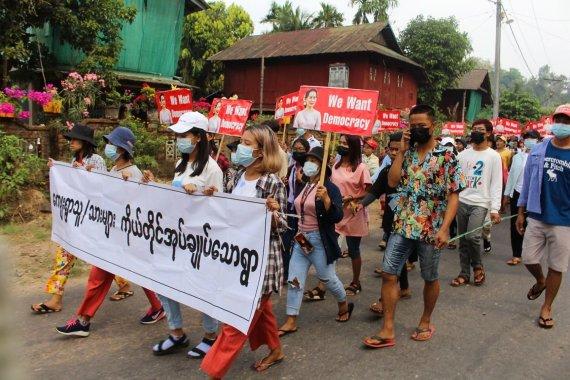 "AFP/""Scanpix"" nuotr./Protestai Mianmare"