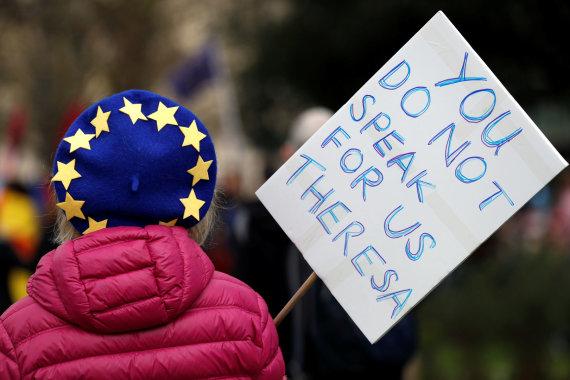 """Reuters""/""Scanpix"" nuotr./Londone – masinė demonstracija prieš ""Brexit"""