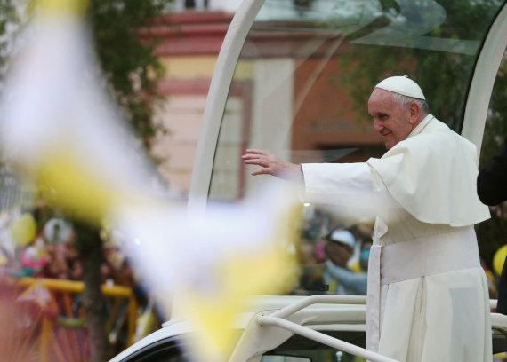 """""""Reuters""""/""""Scanpix"""" nuotr./Popiežiaus Pranciškaus vizitas Peru"""