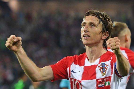 """""""Scanpix"""" nuotr./Luka Modričius pelnė antrą Kroatijos rinktinės įvartį rungtynėse su Nigerija."""