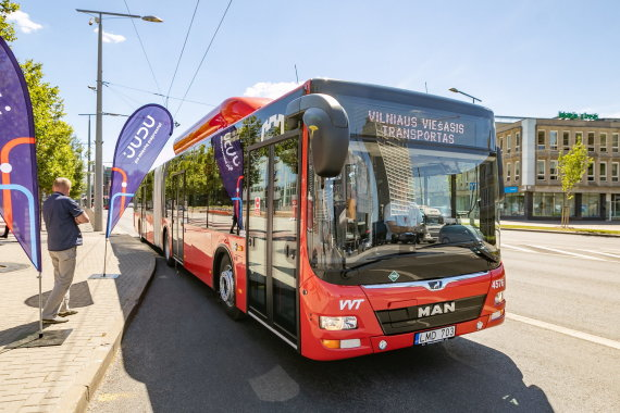 Sauliaus Žiūros nuotr./Naujas Vilniaus autobusas