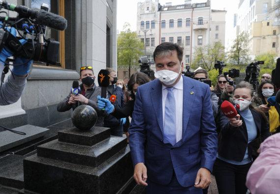 """""""Reuters""""/""""Scanpix"""" nuotr./Į Kijevą grįžęs Michailas Saakašvilis"""