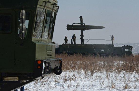 """Sputnik nuotr./""""Iskander-M"""" raketa"""