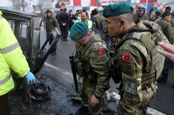 """AFP/""""Scanpix"""" nuotr./Turkijos kariai Kabule"""