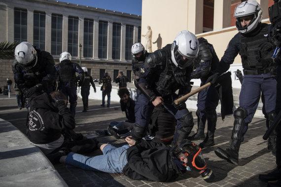 """Scanpix""/AP nuotr./Protestai Graikijoje"