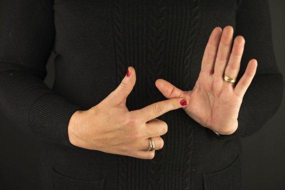 Photo de 123rf.com / Langue des signes
