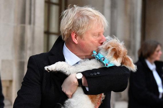 """""""Reuters""""/""""Scanpix"""" nuotr./Borisas Johnsonas ir Dilanas"""