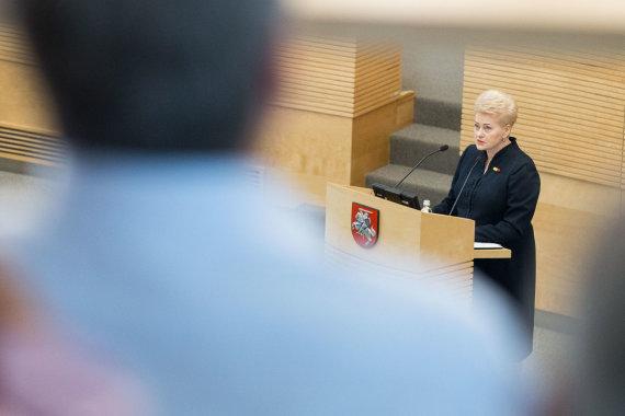 Žygimanto Gedvilos / 15min nuotr./Dalios Grybauskaitės metinis pranešimas