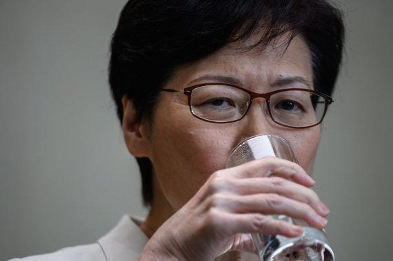 "AFP/""Scanpix"" nuotr./Honkongo vadovė Carrie Lam"