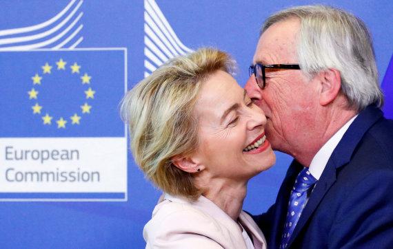 """Reuters""/""Scanpix"" nuotr./Ursula von der Leyen ir Jeanas-Claude'as Junckeris"
