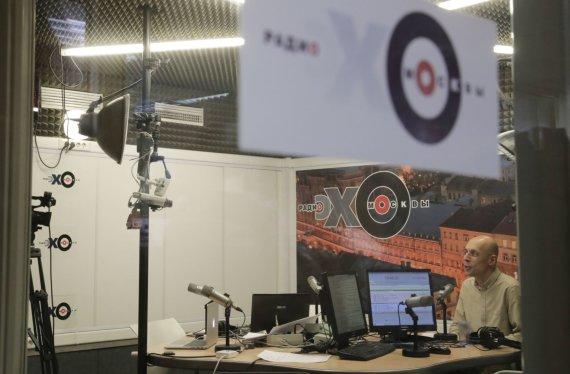 """Reuters""/""Scanpix"" nuotr./Rusijos radijo stotyje ""Echo Moskvy"" užpulta žurnalistė Tatjana Felgengauer"
