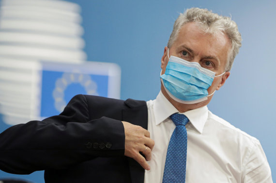 """""""Reuters""""/""""Scanpix"""" nuotr./Gitanas Nausėda Briuselyje"""