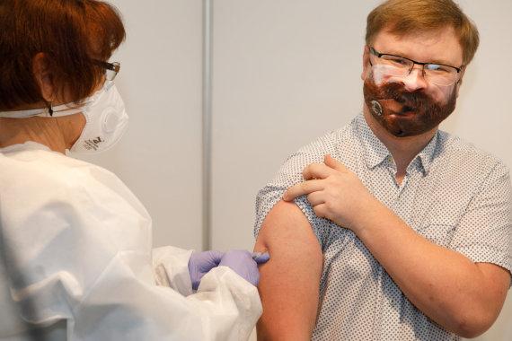 Eriko Ovčarenko / 15min nuotr./Buvusiame pašte įrentas vakcinacijos punktas