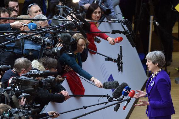 """Reuters""/""Scanpix"" nuotr./Theresa May Briuselyje"