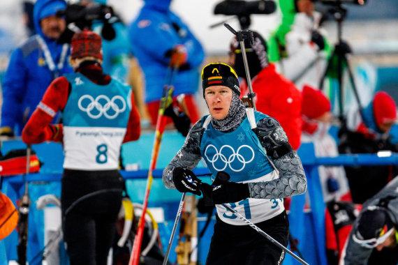 Vytauto Dranginio/LTOK nuotr./Tomas Kaukėnas olimpinių žaidynių biatlono sprinto varžybose užėmė 17vietą.