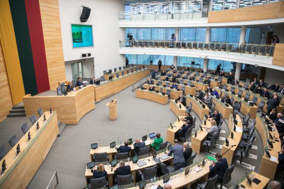 Juliaus Kalinsko / 15min nuotr./Seimo plenarinių posėdžių salė