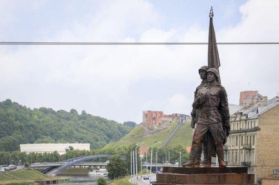 Irmanto Gelūno / 15min nuotr./Žaliojo tilto skulptūros