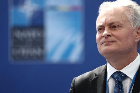 """""""Reuters""""/""""Scanpix"""" nuotr./Gitanas Nausėda NATO viršūnių susitikime"""