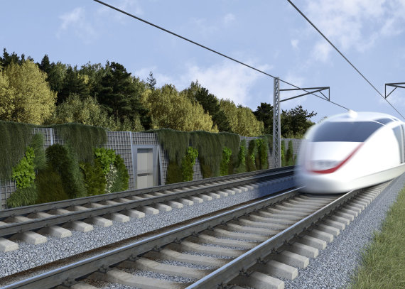 """RB Rail"" vizualizacija /Paskelbti ""Rail Baltica"" infrastruktūros elementų eskizai"