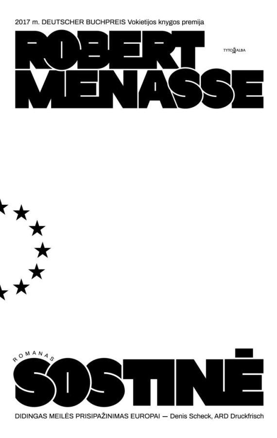 """Knygos viršelis/Robertas Menasse """"Sostinė"""""""