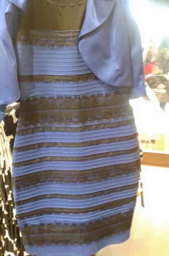 """Nuotr. iš """"Twitter""""/Kokios spalvos ši suknelė?"""
