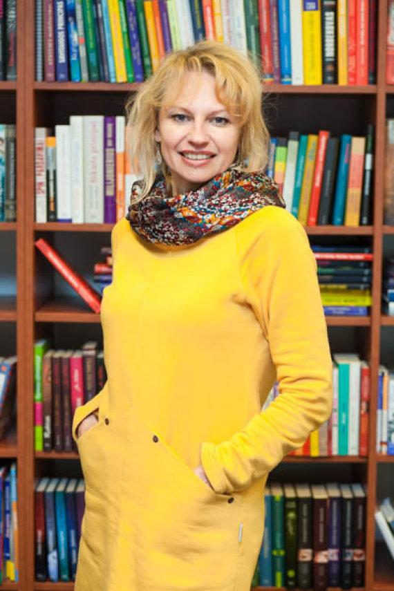 """Projekto partnerio nuotr./""""Šiaurės licėjaus"""" ugdymo turinio ir metodikos bei leidyklos """"Šviesa"""" metodinės grupės vadovė Lina Virozerovienė."""