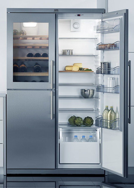 šaldytuvas, su vynui skirta sekcija