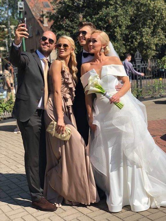 Asmeninio albumo nuotr./Ernesto Mongino ir Lauros Staržinskaitės vestuvių akimirka