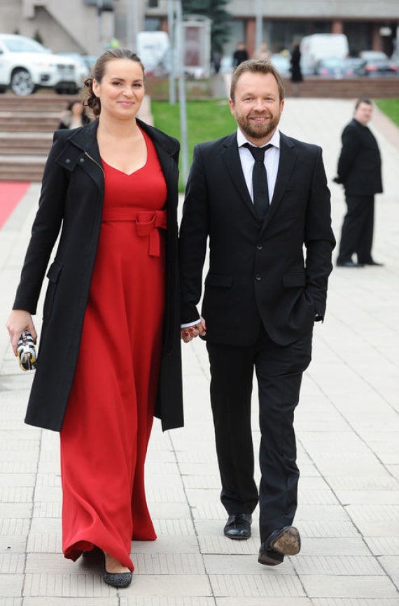 Luko Balandžio nuotr./Martynas Starkus su žmona Kotryna