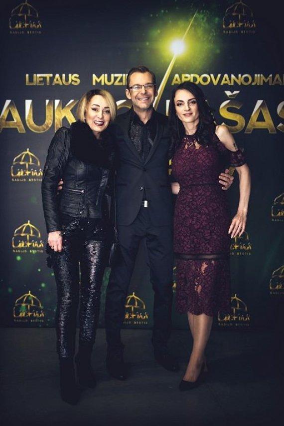 Renginio nuotr./Džordana Butkutė, Aras Vėberis ir Martyna Kerbedytė
