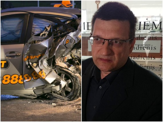 """15min koliažas/""""CityBee"""" avarijos padariniai ir nukentėjusysis R.Grigas"""