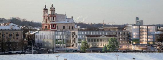 Projekto autorių nuotr./Projektas prie Šv. apaštalų Pilypo ir Jokūbo bažnyčios