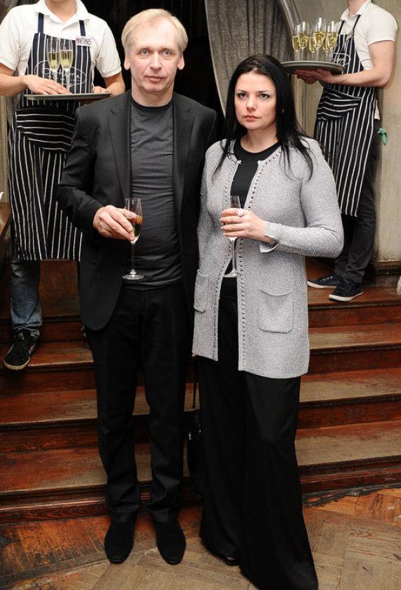 Luko Balandžio nuotr./Gintaras Rinkevičius su žmona Donata