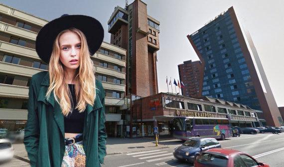 """Asmeninio albumo ir Google Maps nuotr./Dovilė Didžiunaitytė ir """"Amberton Klaipėda"""" viešbutis"""