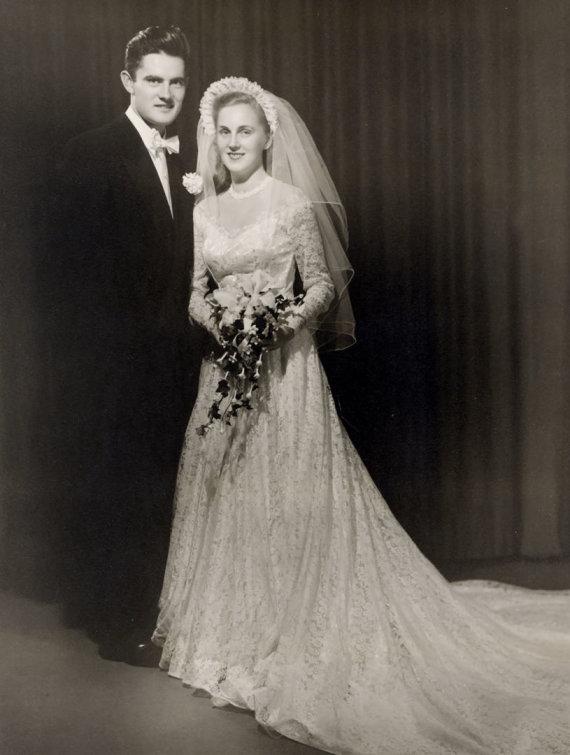 Asmeninio archyvo nuotr./Valdo Adamkaus ir Almos Adamkienės vestuvės