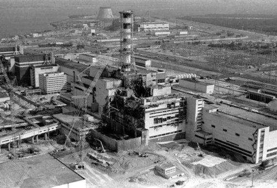 """""""Reuters""""/""""Scanpix"""" nuotr./Černobylio atominė elektrinė po katastrofos"""