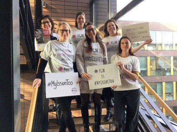 """""""Twitter"""" nuotr./Europarlamentarai protestavo prie moterų genitalijų apipjaustymą"""