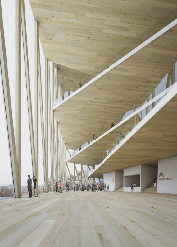 """Organizatorių nuotr./Pirmoji vieta – Ispanijos architektų """"Arquivio architects"""" projektas"""