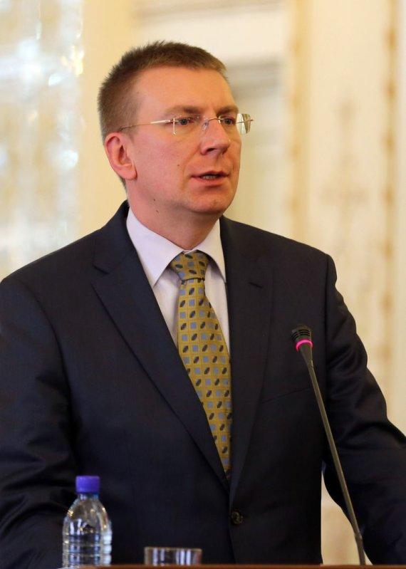 """AFP/""""Scanpix"""" nuotr./Latvijos užsienio reikalų ministras Edgaras Rinkevičius"""