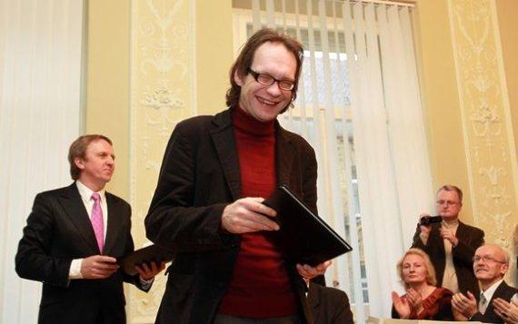 Irmanto Gelūno/15min.lt nuotr./Kultūros ministerijos premija apdovanotas Andrius Jakučiūnas