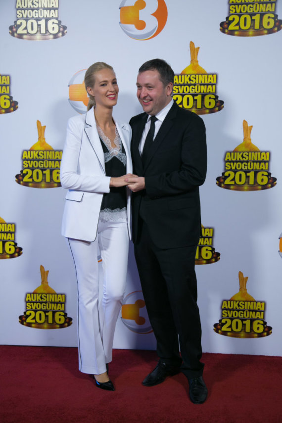 Juliaus Kalinsko / 15min nuotr./Antanas Guoga su žmona Aiste