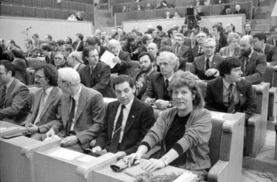 Seimo archyvo/ Algirdo Sabaliausko, Pauliaus Lileikio, Jono Juknevičiaus nuotr./LR Aukščiausiosios Tarybos pirmoji sesija