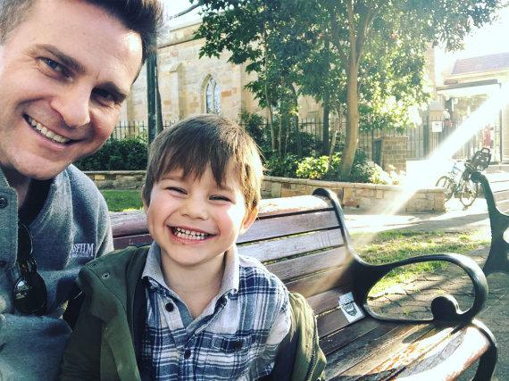 """""""Instagram"""" nuotr./Davidas Campbellas su sūnumi Billy"""
