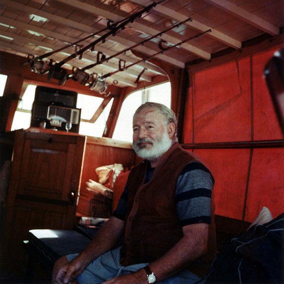 "Nuotr. iš ""Wikipedia""/Ernestas Hemingway'us"
