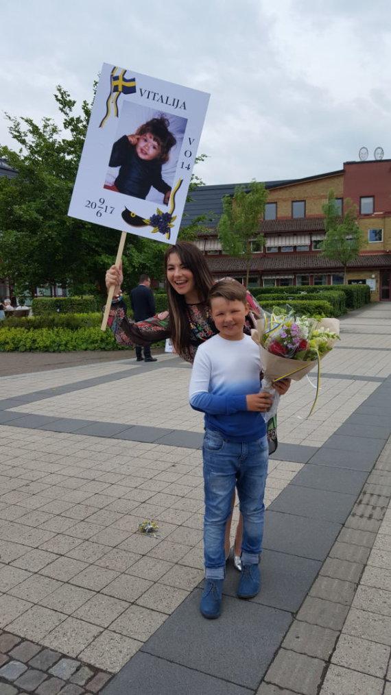 Asmeninio albumo nuotr./Milisandra Radzevičienė su sūnumi Roku
