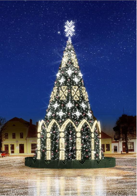 Kėdainių rajono savivaldybės nuotr./Kėdainių Kalėdų eglutė