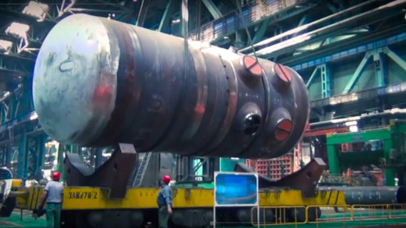 Astravo AE reaktoriaus korpusas
