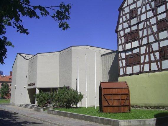 G.Oržikausko nuotr./Klaipėdos parodų rūmai Didžiojoje Vandens g. ir Aukštosios g. sankryžoje, architektai V. ir N. Zubovai, 1973-82 m.