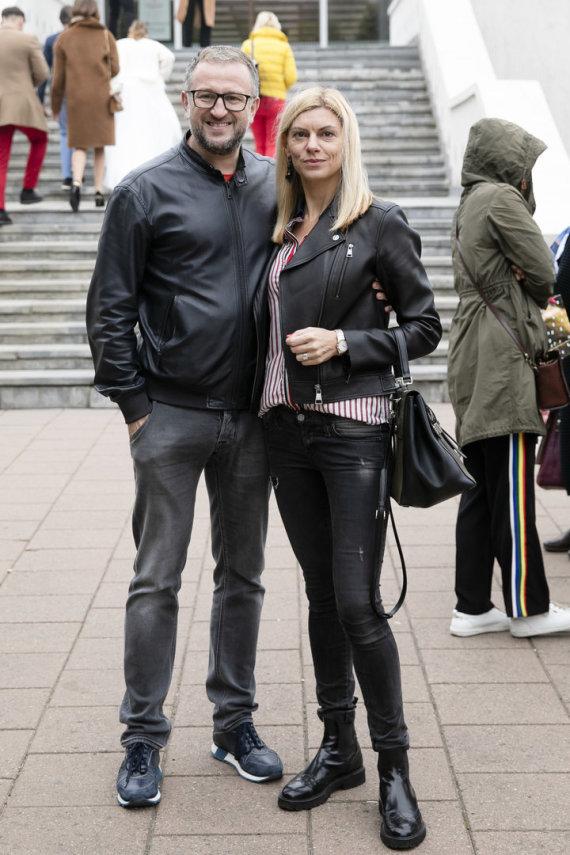 Luko Balandžio / 15min nuotr./Liutauras Čeprackas su žmona Laura